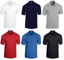 Gildan Men's Plain Polo Shirt Polo Top Polo T Shirt Short Sleeve Polo GD017