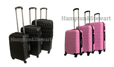 4 Wheel Spinner Suitcase Hard Case Luggage Trolley Case S,M,L,SET Diamond Design