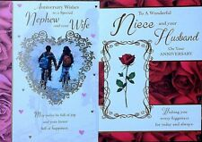 Anniversary card ~ Niece and your Husband / Nephew and your Wife ~ Lovely words