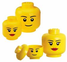 Small Large Lego Storage Head Box Boy Girl Kids Tidy Store Figure Container Toy  sc 1 st  eBay & LEGO Sort Store Storage HEAD Yellow Angry Face Awesome0 results ...