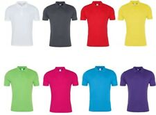 Mens Polo Shirt Polyester Sports Gym Top Cool Smooth Polo Sports Shirt JC021