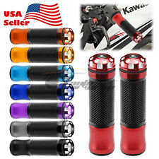 "Motorcycle Hand Grips Rubber 7/8"" Handle Bar For Honda Suzuki Kawasaki Yamaha 02"