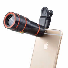 Optical Telescope Camera Lens Zoom Clip-on Universal For Mobile Phone HD 12x