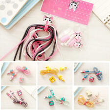 10B8 Cartoon Spiral Cell Phone USB Data Charging Cable Wrap Protector Winder
