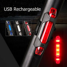 5 LED USB Rechargeable Bike Tail Light Safety Bicycle Cycling Warning Rear Lamp