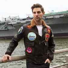 Bomber Jacket leather NAVY G-1 Tom Cruise TOP GUN COCKPIT USA MADE IN USA