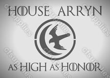 Game of Thrones ARRYN Mylar AIRBRUSH STENCIL 125/190 micron A5/A4/A3 reusable