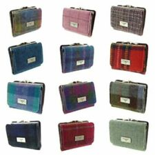 Ladies Authentic Harris Tweed Clasp Purse Available In Various Colours  LB2113
