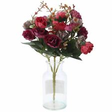 1 Bouquet 21 Head Artificial Rose Colorful Silk Flower Capable Fake Flowers For