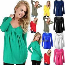 New Ladies Womens Tunic Dress Long Sleeve Bow Knot Swing  Top Tee Size 8-24