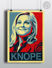 LESLIE KNOPE - Parks & Rec 'Hope' Poster Shepard Fairey style by Posteritty
