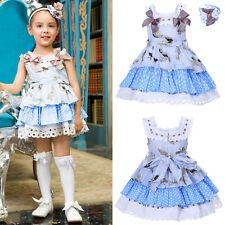 Romany Girls Floral Polka Dot Tutu Dress Traditional Princess Party Prom Outfits
