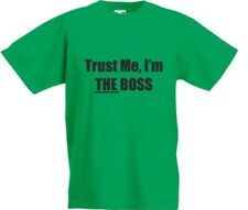 """ Trust Me "" , i'M The Boss, Bambini T-Shirt Stampata"