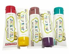 JACK N JILL KIDS ORGANIC NATURAL TOOTHPASTE - 2x50 ml - CHOOSE YOUR FLAVOUR