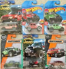 Hot Wheels / Matchbox Toy Car Jeep SUV Cherokee / Wrangler (6 Cars to Choose)