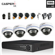 CASPERi Outdoor Night-Vision Security Kit with 2.0MP Dome Cameras & 4/8 CH DVR
