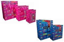 Happy Birthday Bday Gift Bags Kids Gift Wrapping Childrens Party Presents Girls