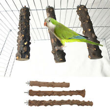 Portable Prickly Ash Wood Pet Parrot Perches Bird Cage Hanging Accessory