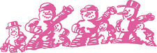 Application Stickers Winter Decor Pink Snowmen in 2 Sizes WD0818