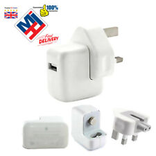 Genuine Apple 12W Fast Mains Wall Charger Plug + Cable iPad Air iPhone 6 5 5S 5C