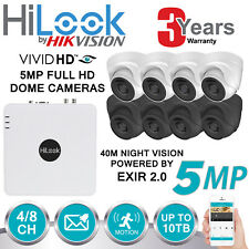 HIKVISION 5MP FULL HD CCTV SYSTEM 4CH 8CH DVR 4K UHD WHITE GREY DOME CAMERA KIT
