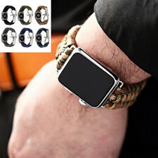 Mens Weave Rugged Durable Strap Watch Band For iWatch Apple Watch 42 / 38 mm
