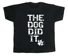 "Divertente Bambino T-Shirt """" The Dog DID It """" Grazioso Bambino Bambina Top"