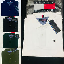 TOMMY HILFIGER MEN'S POLO SHORT SLEEVE COTTON T-SHIRTS 100% AUTHENTIC