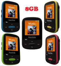 SanDisk Clip Sport Colored 8GB MP3 Player + SanDisk MicroSD card – Genuine & New