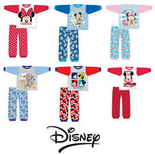 Kids Disney Baby Boys Girls Mickey Mouse Minnie Mouse PJs Pyjamas Pyjama Set
