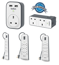 Belkin Surge Master Protector 1-2-4-6-8 Way with 2m Extension Cable 2x usb charg