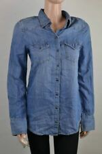 Diesel Donna Camicia Denim Donna Colletto Polo Camicia di Jeans Blu Misura Xs