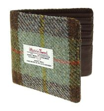 100% Harris Tweed & Real Leather Gents Wallet Available In Various Colours
