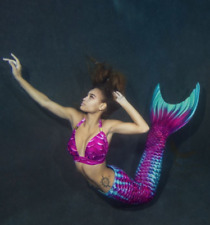 Aqua Fairy Mermaid Tail For Adults With Monofin For Swimming by Mertailor