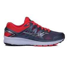 Saucony Omni 16 Women's Lightweight Running Shoes, Grey/Red/Black