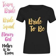 Bride To Be Team Bride Squad Top T Shirt Bridesmaid Ladies Hen Party Tee