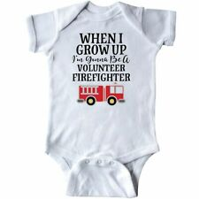 Inktastic Firefighter Volunteer Fireman Infant Creeper Fire Truck Childs Boys