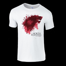 Game of Thrones House Stark Sigil in Blood T-Shirt Mens & Ladies available Top
