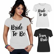 Bride To Be Team Bride Squad Top T Shirt Womens Bridesmaid Ladies Hen Party Tee