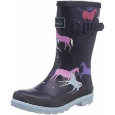 Joules Printed Welly Magical Unicorn Marine Caoutchouc Junior Wellington Bottes