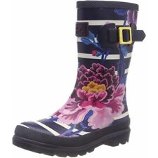 Joules Printed Welly Chinoise Stripe Marine Caoutchouc Junior Wellington Bottes