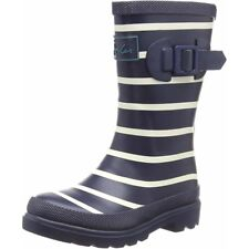 Joules Printed Welly Stripe Marina Francese Gomma Junior Wellingtons Stivali