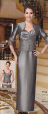 Mother of the Bride/Groom Dress, Formal Gowns, Evening Party Wear w/Jacket 12,16