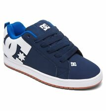 DC SHOES SKATE COURT GRAFFIK NAVY - ROYAL 300529 NR6  MENS UK SIZES  9 - 13