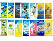 W5 / Pledge / Dettol / Cif / Flash -Multipurpose Cleaning WIPES Bathroom Kitchen