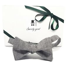 Prince of Wales Check Self Tie Bow Tie