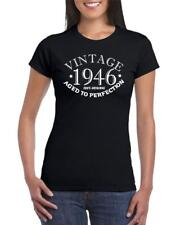 72nd Birthday Present Gift Year 1946 Aged To Perfection Womens Funny T-Shirt Old