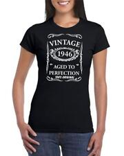 72nd Birthday Present Gift Year 1946 Aged To Perfection Womens Funny TShirt