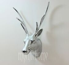Stunning Metal Stags Head Wall Hanging Sculpture Trophy | Deer