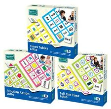 Educational Lotto Games | Times Tables Fractions Time | KS1 KS2 Maths Resource
